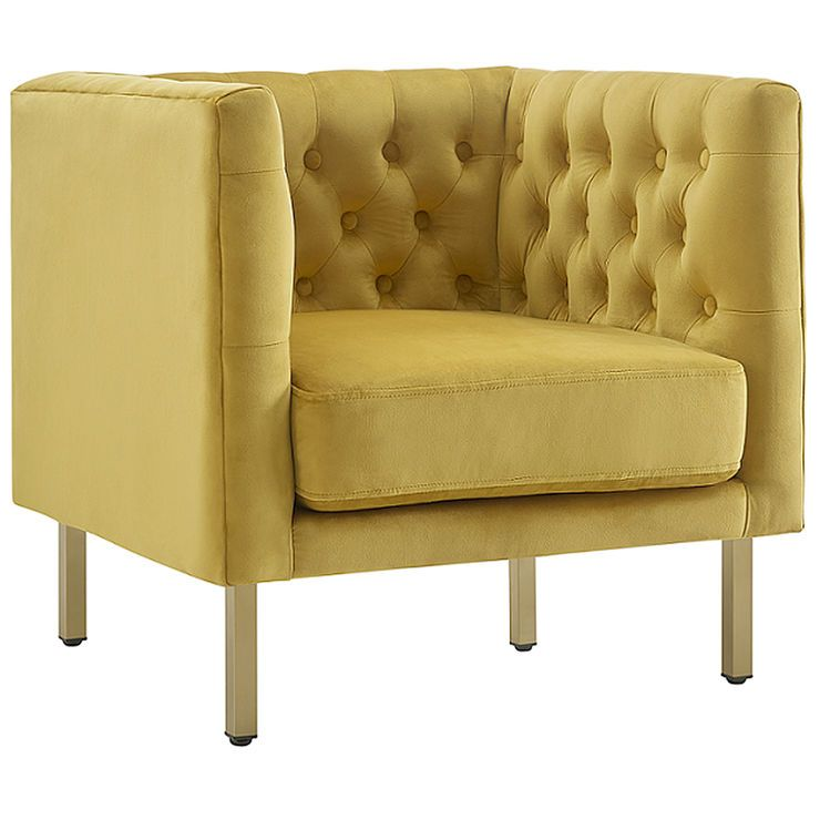 Bendell Yellow Accent Chair