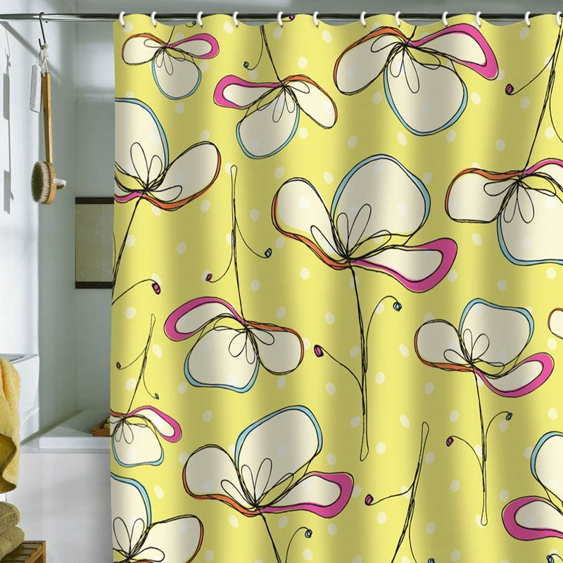 Floral Umbrellas Shower Curtain