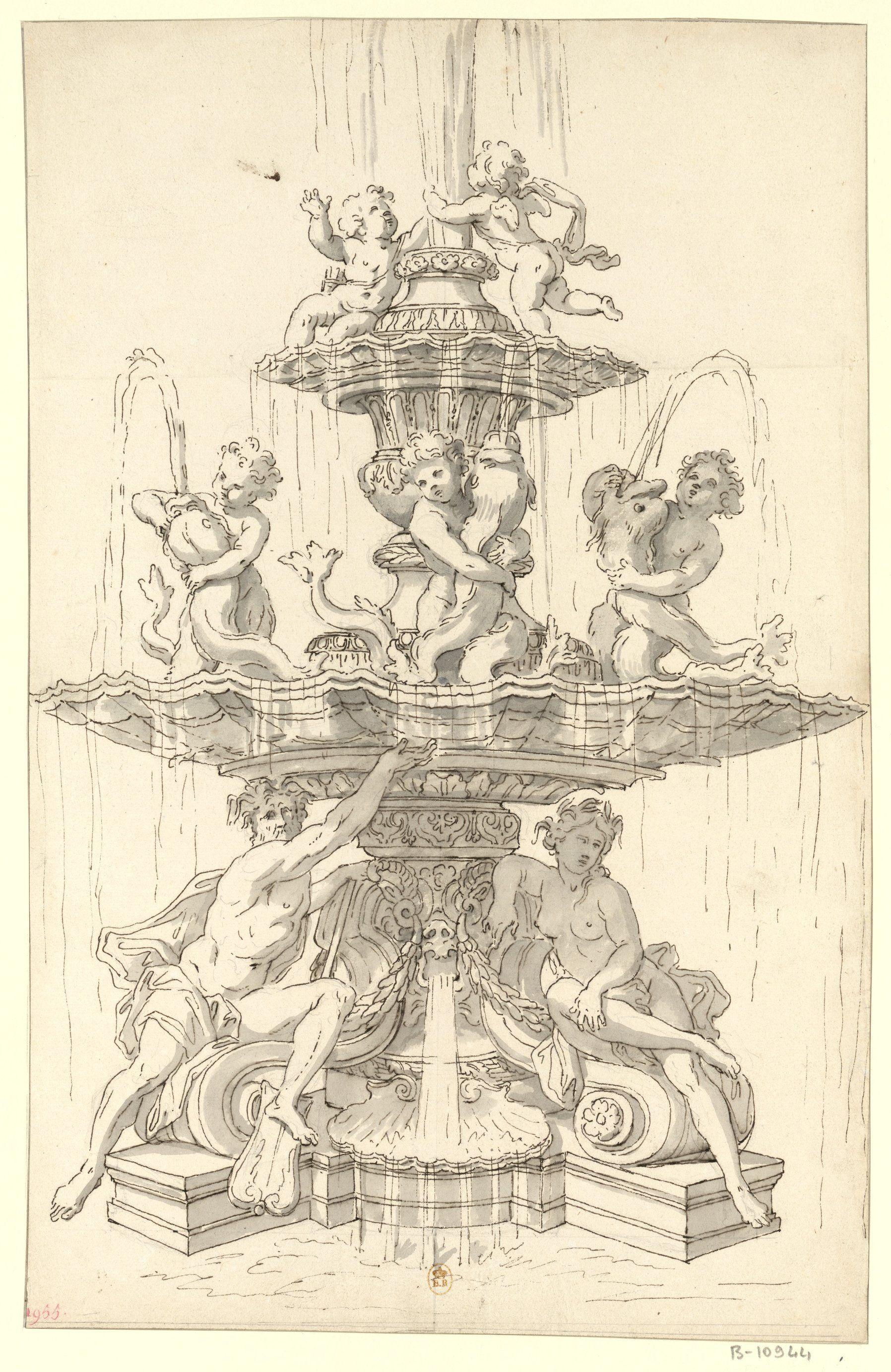 All sizes | Versailles, parc - projet de fontaine pour le Bassin de la Pyramide, 1673 | Flickr - Photo Sharing!