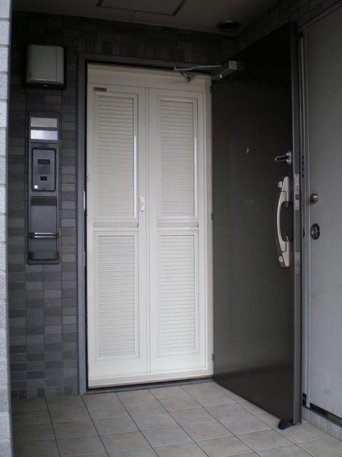 玄関ルーバー網戸 目隠しルーバードアでプライバシーはもちろん内外に