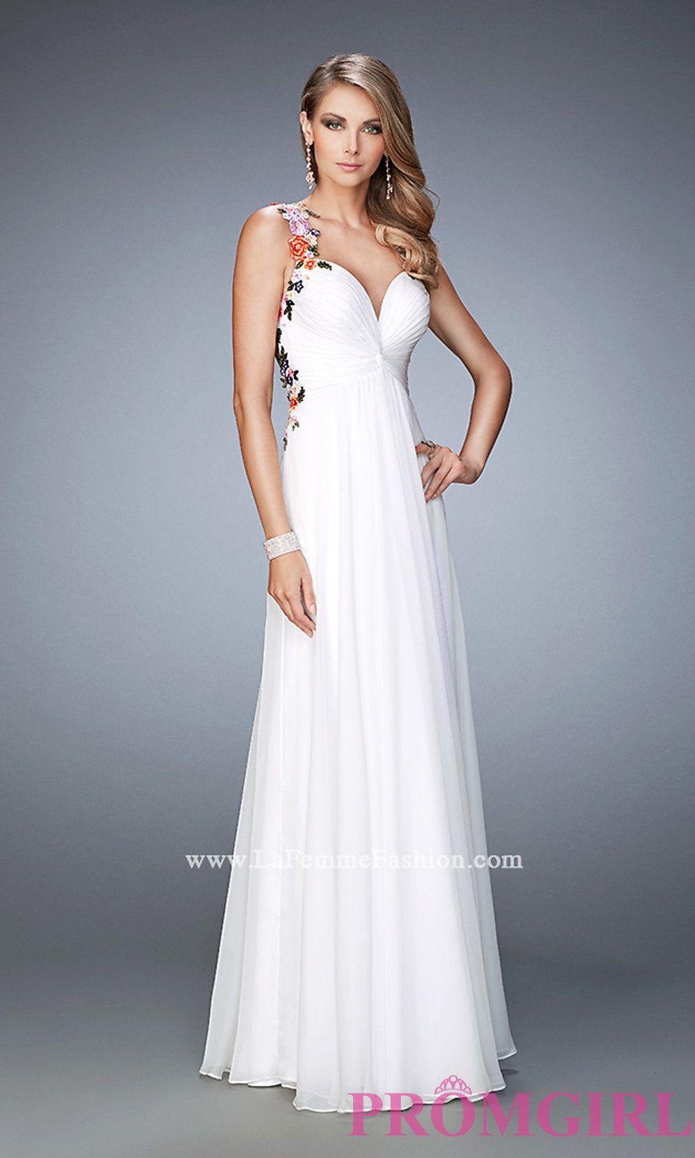 d8cfb05f87a Long White Sweetheart Open Back Prom Dress by La Femme Style  LF-22610