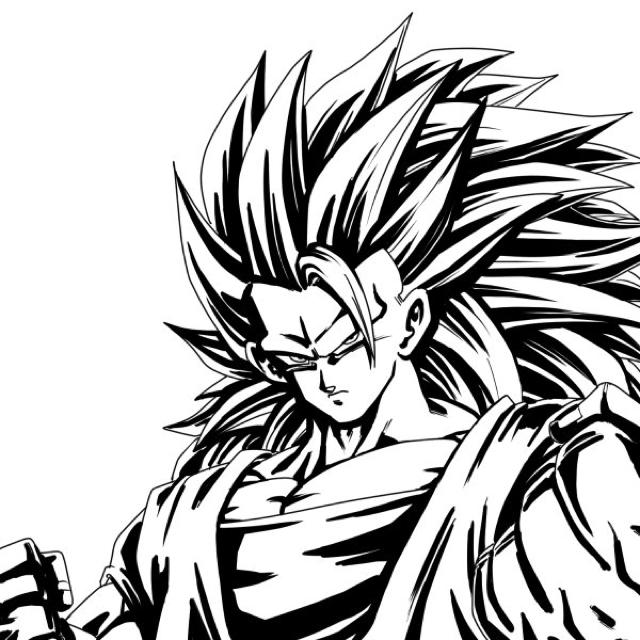 Goku Ssayanjin3 Dragon Ball Super Goku Art Nerd Gifts