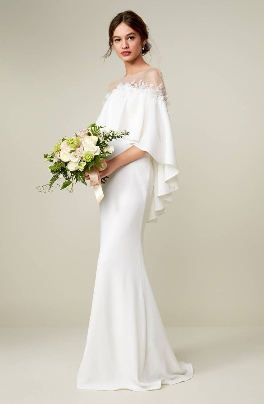 The most elegant winter wedding dresses cape wedding dress and