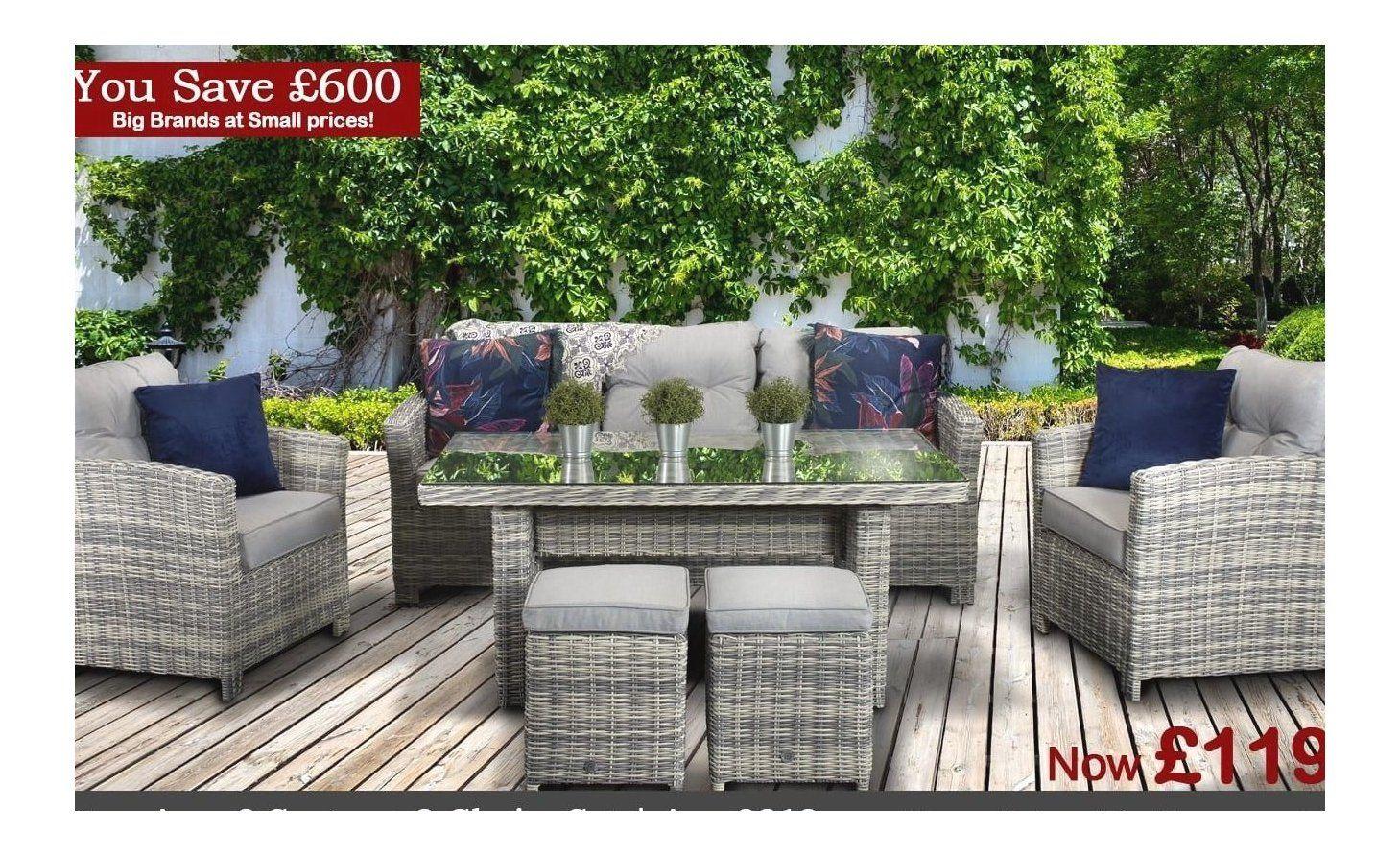 Homeflair Sale Now On Save Up To 70 Off Rattan From 249 1000 In 2020 Rattan Garden Furniture Garden Furniture Garden Sofa Set