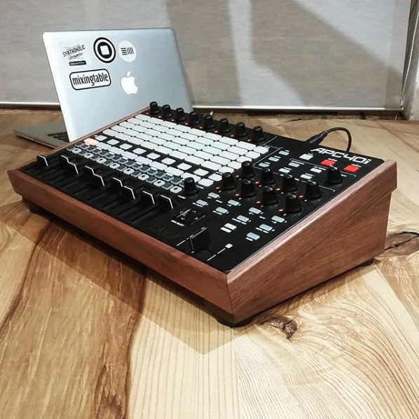 A Solid Walnut Desk Stand for the Akai APC40 mkII by mixingtable