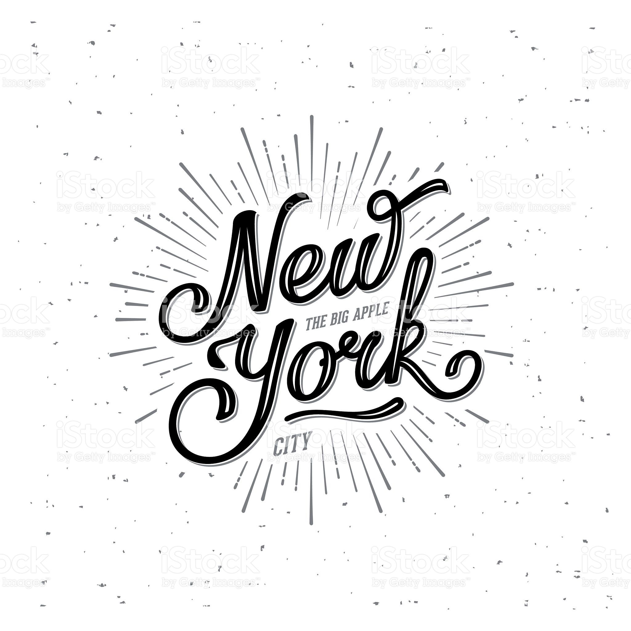 New York City Typography with starburst. Print for tshirt