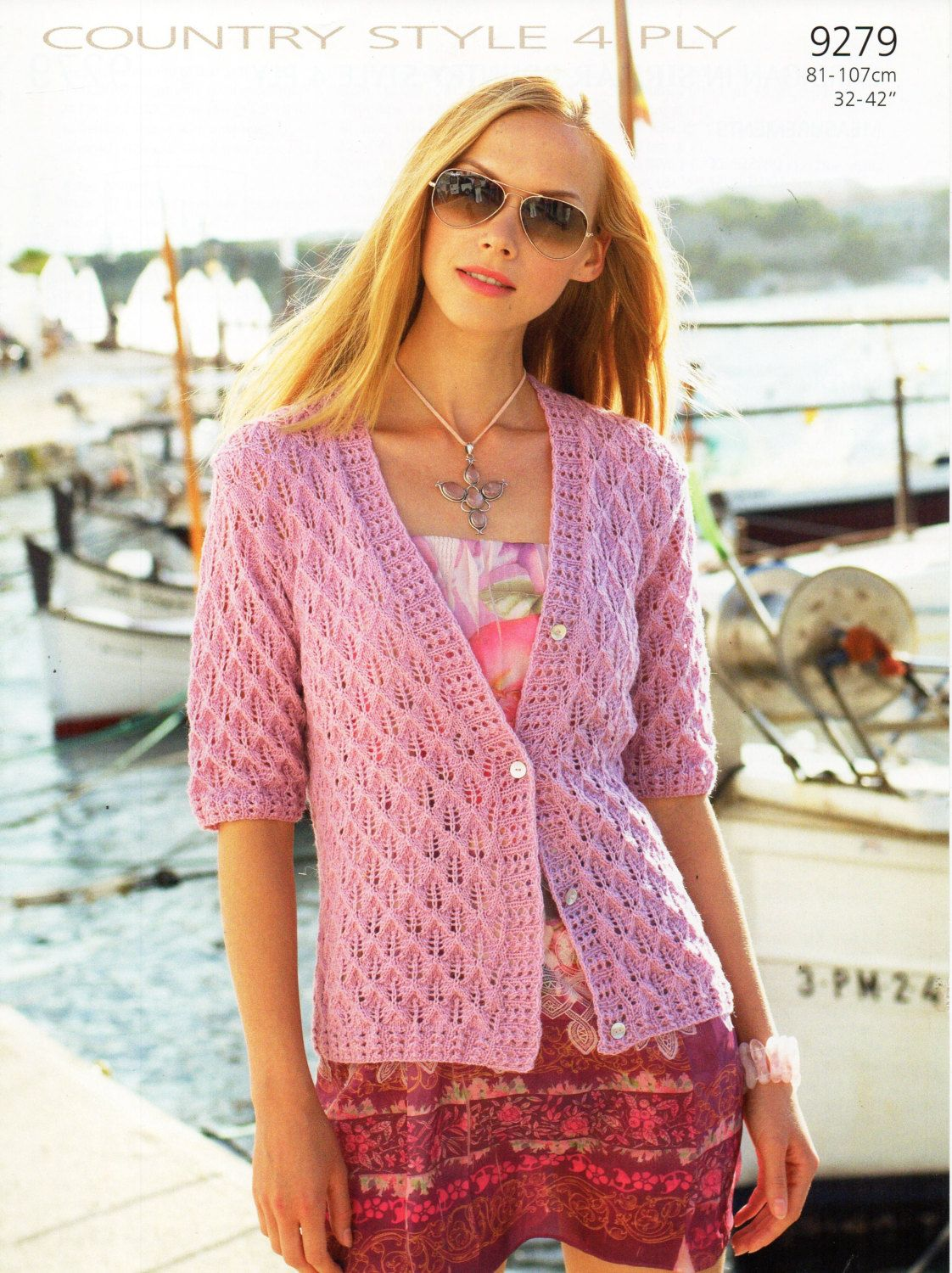 womens cardigan knitting pattern lacy cardigan short sleeve long ...