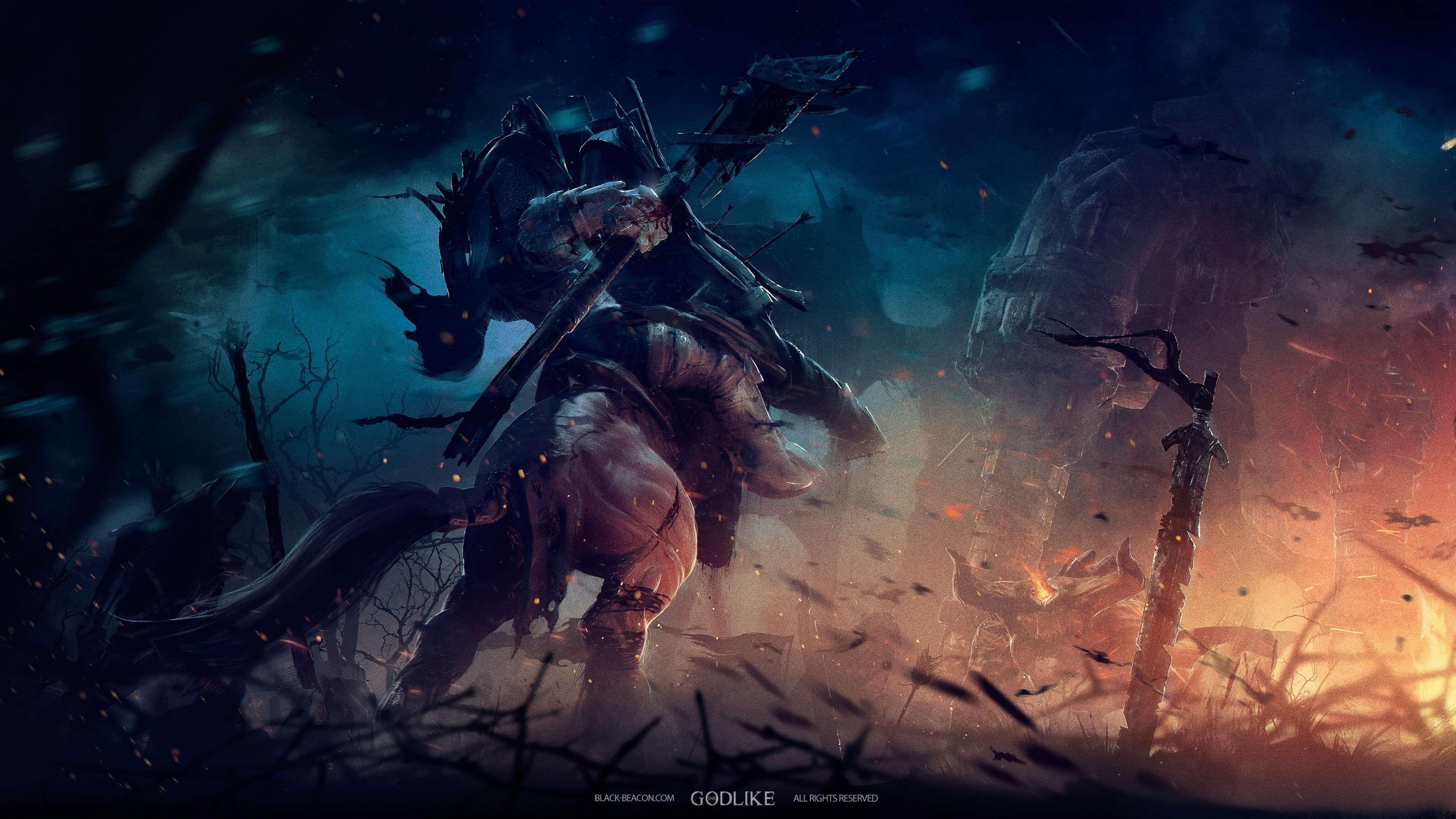 3840x2160 4k Battle Black Beacon Games Moba The Godlike 4k Wallpaper Jpg 741 Kb