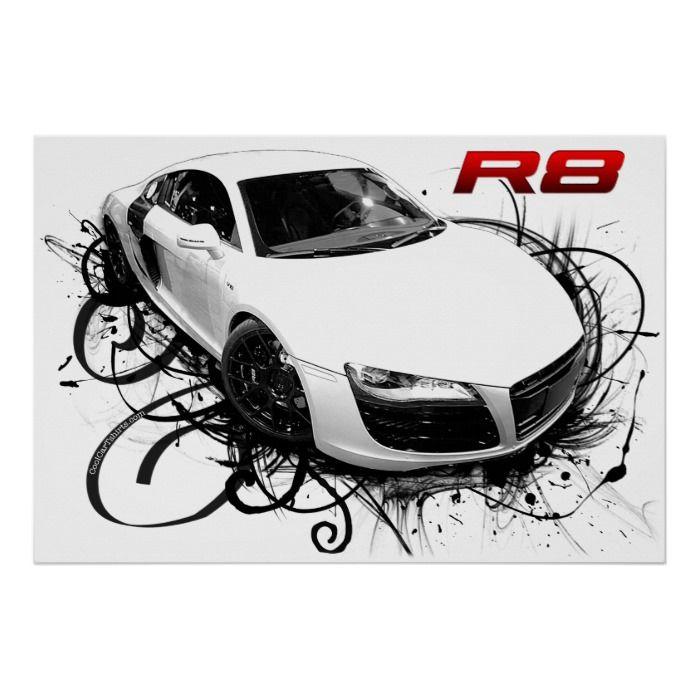 Super Car  R8  Poster | Zazzle.com