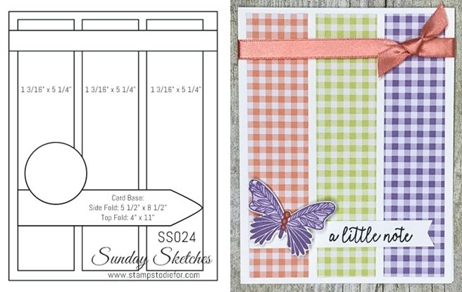 Sunday Sketches SS024 - Using Up Patterned Paper Scraps