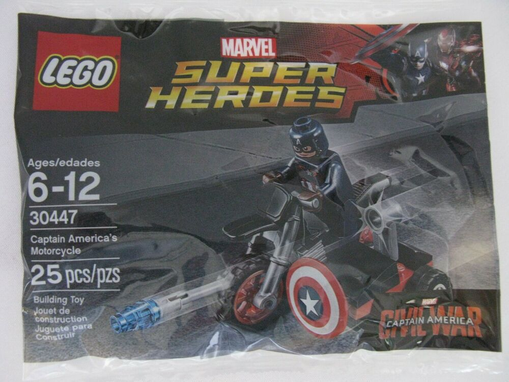 Lego Captain America/'s Motorcycle Polybag Set 30447 Marvel Brand New!