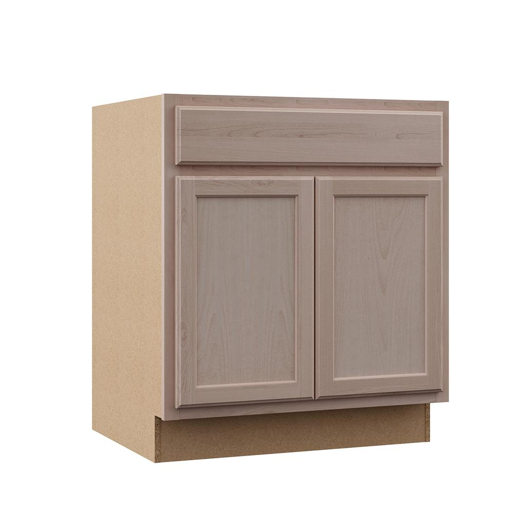 Hampton Bay Hampton Assembled 30x34 5x24 In Sink Base Cabinet In Unfinished Beech Ksb30 Uf The Home Depot Base Cabinets Unfinished Kitchen Cabinets Unfinished Cabinets