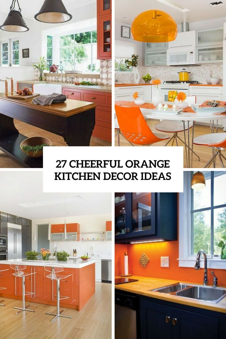9 Cheerful Orange Kitchen Decor Ideas - DigsDigs  Orange kitchen