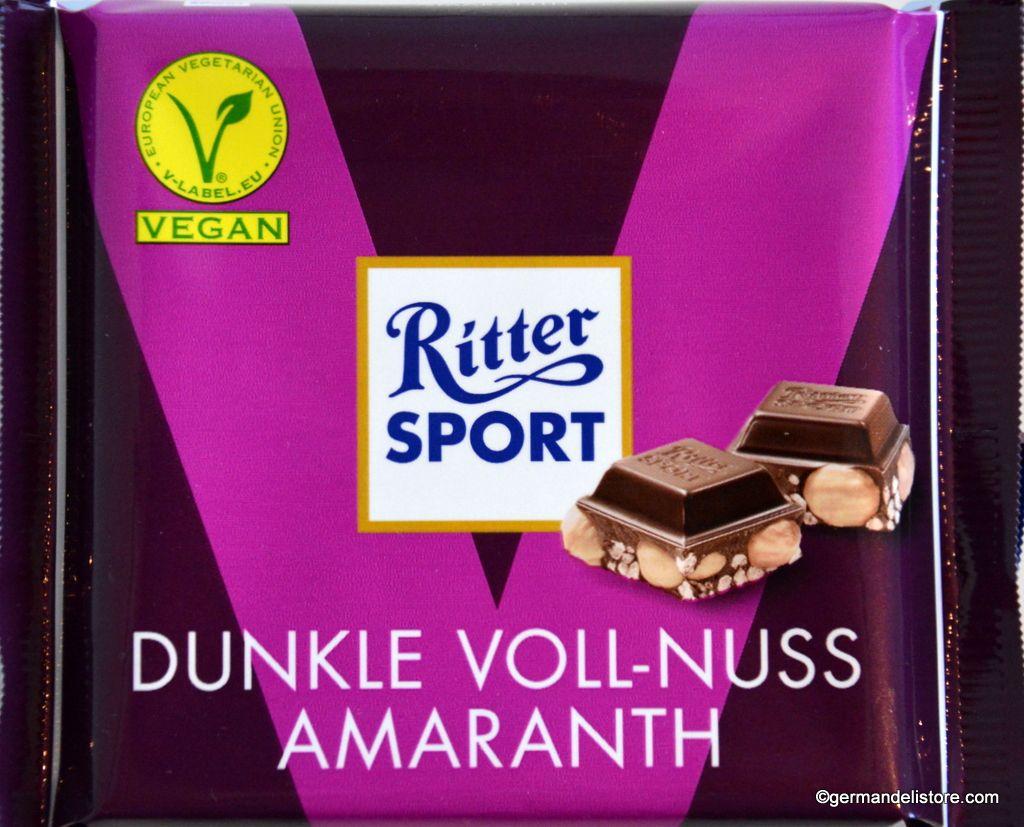Ritter Sport Dark Whole Hazelnuts & Amaranth Vegan