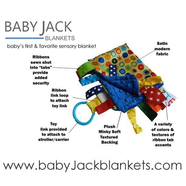 Sensory tag baby blanket