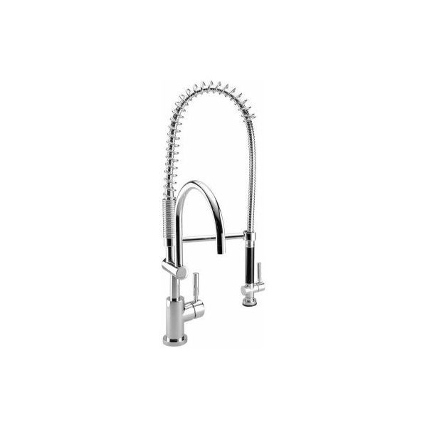 Dornbracht 33880888 000010 Tara Classic Polished Chrome Profi Single Handle Kitchen  Faucet