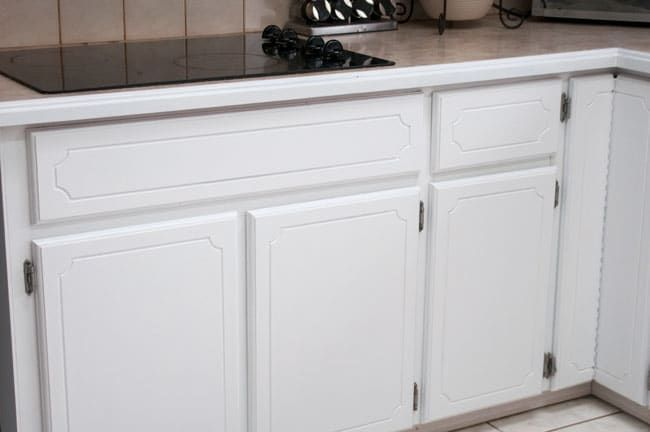 Transforming a 45 year old kitchen just by painting kitchen cabinets