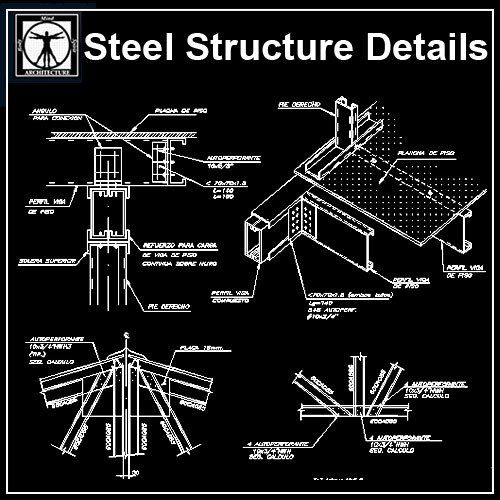 Steel Structure Details 1 | Download CAD Blocks,Drawings