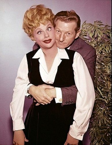 Lucy clowning with Danny Kaye.