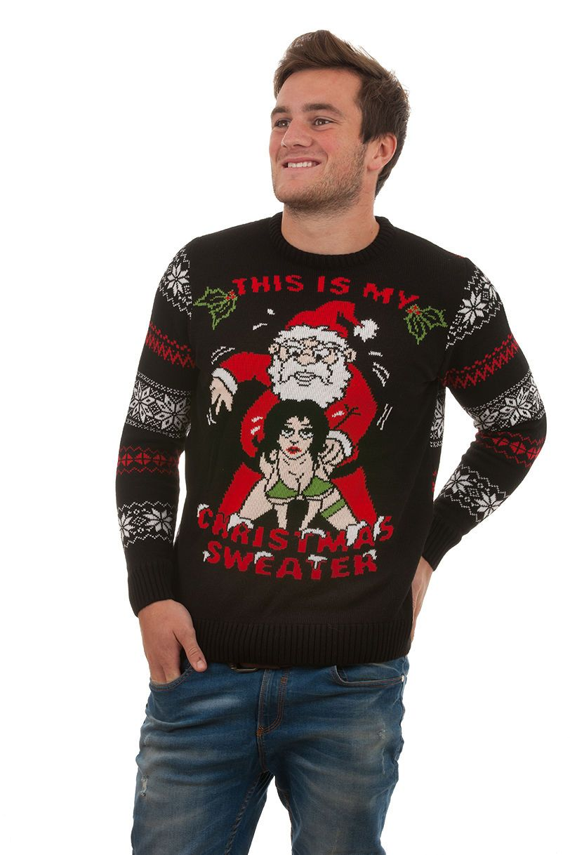 Ugly 'This Is My Christmas Sweater' For Men - Front View   Rude ...