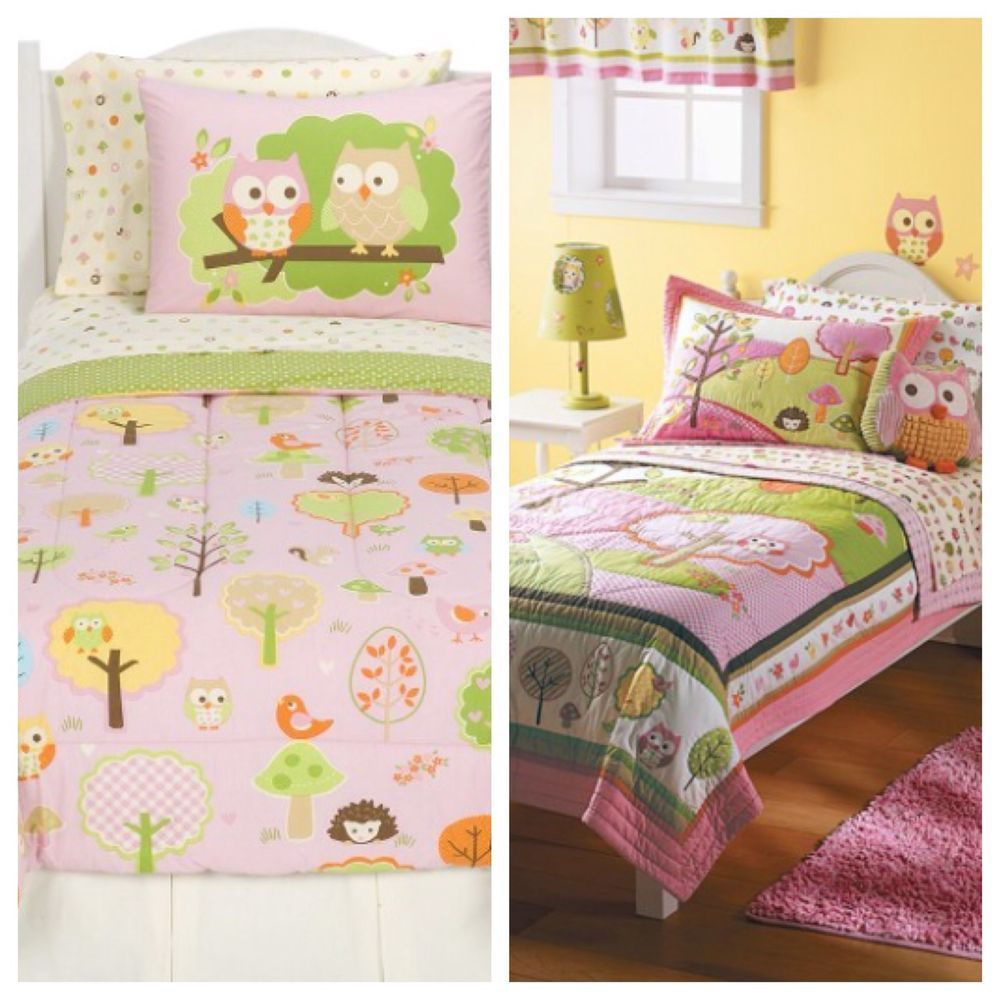 Circo Love N Nature Owl Complete Twin Bedding Sets Plus Lamp Accessories Casas