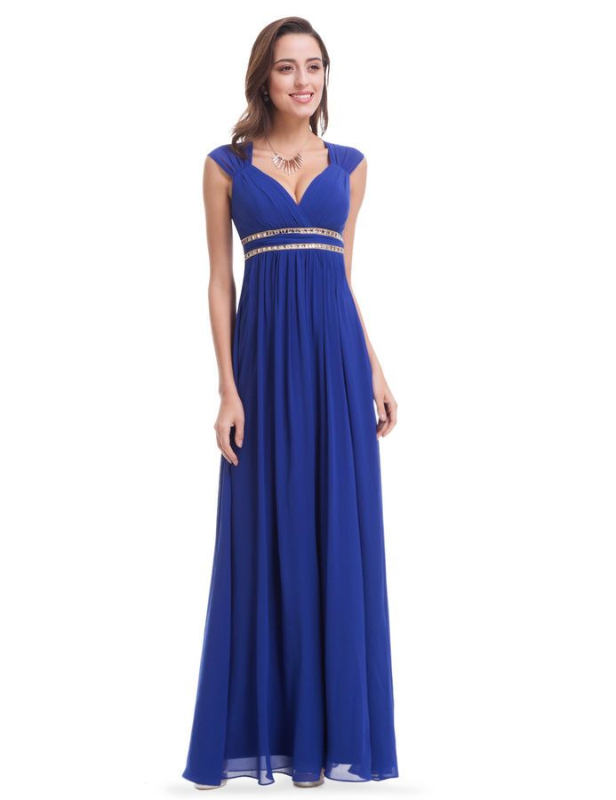 Ever-Pretty Chiffon Evening Dresses Formal Long Blue Party Ball Prom Gown 08697