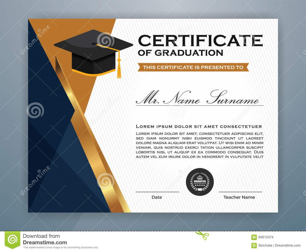 Explore Our Sample Of High School Graduation Certificate Template Graduation Certificate Template Certificate Templates Graduation Templates