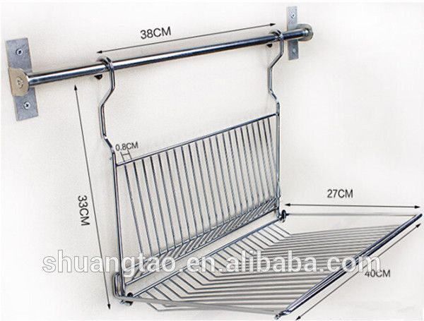 Stainless Steel Dish Drainers Wall Mounted Customized