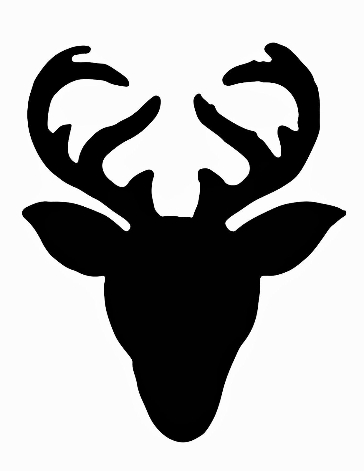 reindeer head silhouette clipart best clipart best christmas card rh pinterest ca