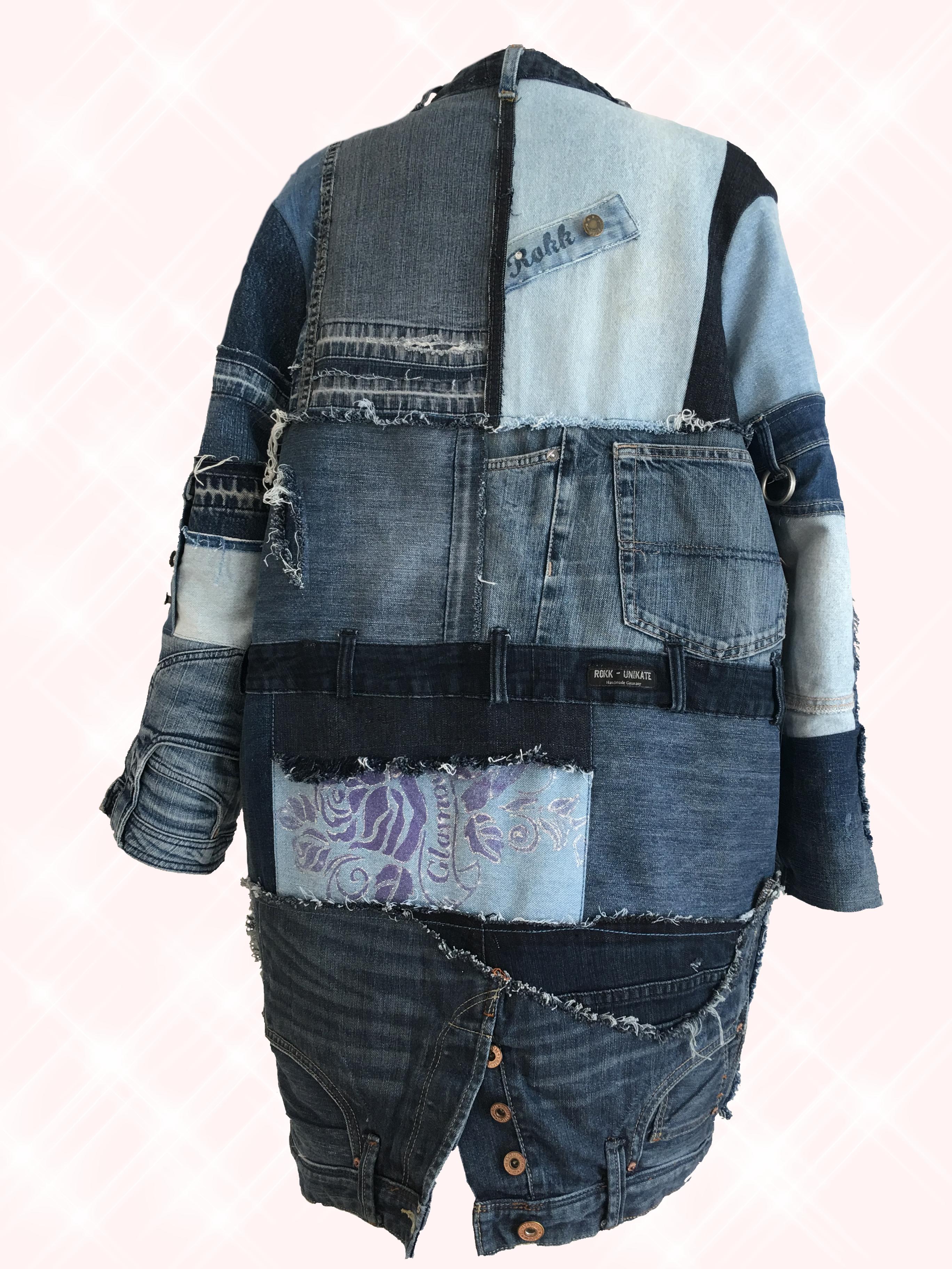 a0616c82c2dc Jacket Denim, Jacket Upcycling #Patchwork Jeansjacke #Jeans Kostüm ...