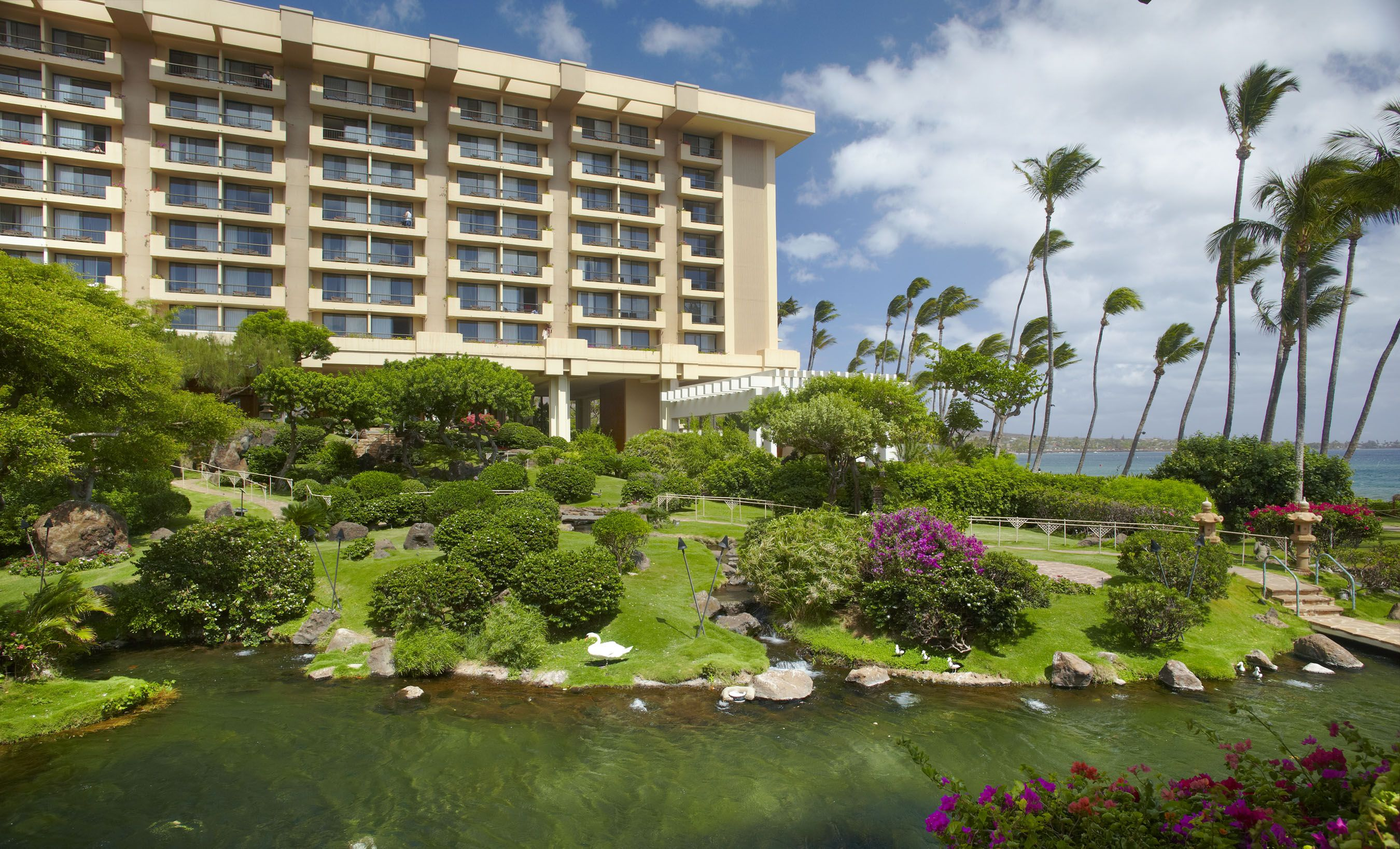Beautiful Oriental Gardens At The Hyatt Regency Maui Resort
