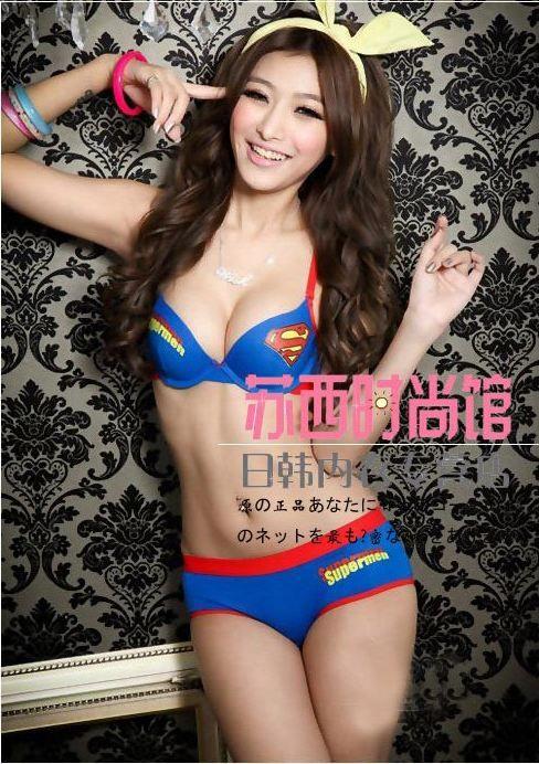 c862f257c294c Superman bra and panties....Garrett s dream girl wearing his favorite super  hero lingerie!