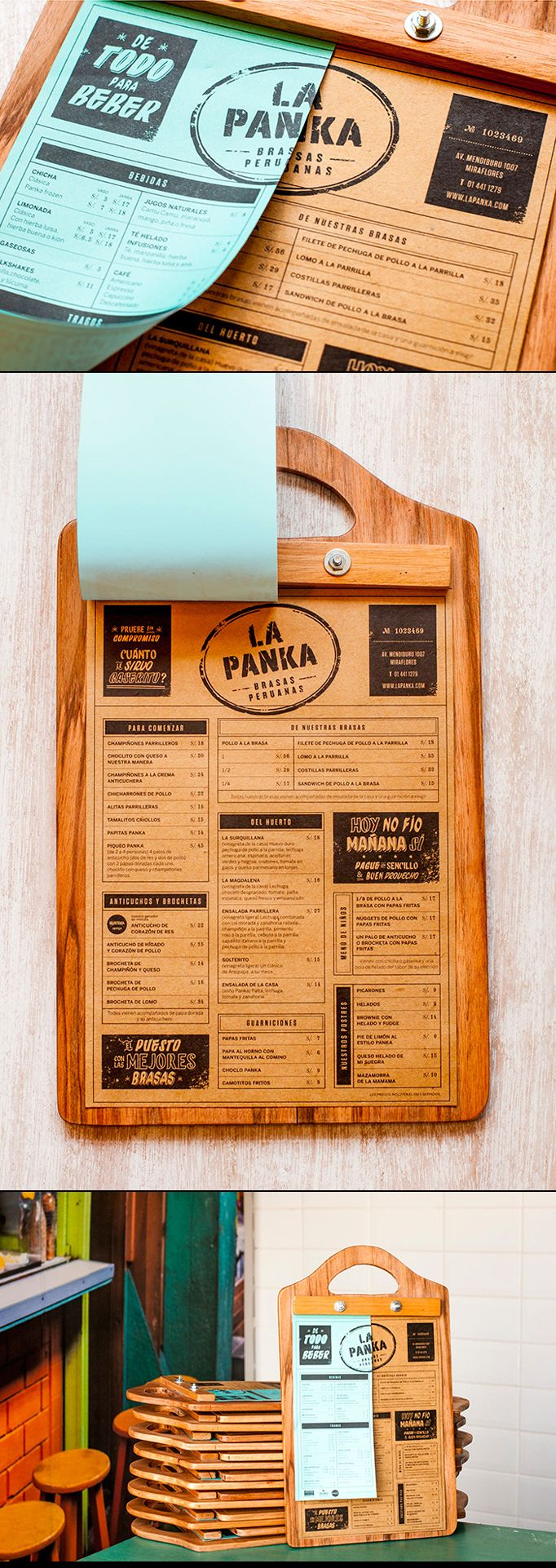A well thought-out, custom clipboard menu design. Design by Infinito: http://www.infinito.pe/ #designisvital http://www.paliosdesign.com