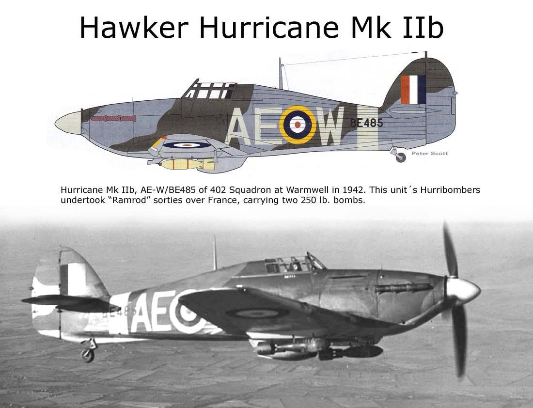An Ii B B Hawker Hurricane Mk Iib Wwii Aircraft Profiles Pictures
