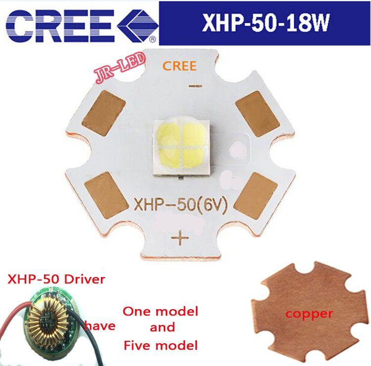 1pcs Original Authentic 18w 6vcree Xhp50 Cool White High Power Led Emitter 6v 16mm Copper Pcb 22mm 1mode 5modes Driver Power Led Led Lamp Light
