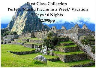 """Begin your Machu Picchu Vacation in Lima, the Capital of Peru, where you will visit the must see Sites and indulge in its World-Class Cuisine before flying to Cusco, called the """"Imperial City"""", to explore all of the Inca and Colonial Highlights in and around Cusco and the Sacred Valley of the Inca in Private Service.       Take the Vistadome Train to and from Machu Picchu where you will spend two Days visiting this Wonder of the World while staying in the Superior 4* Inkaterra El Mapi Hotel."""