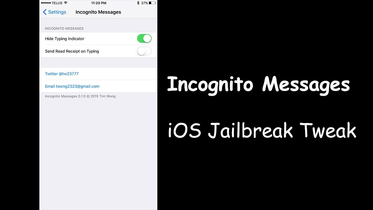 Incognito Messages Hide Typing Indicator Messages Incognito Reading