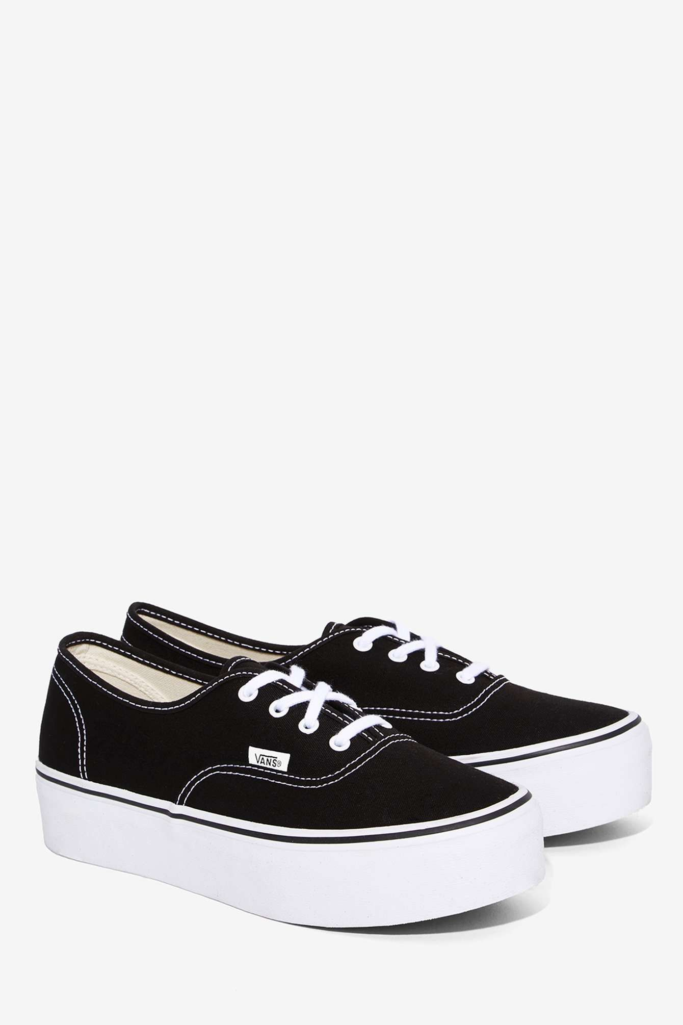 198621382f Vans Authentic Platform Sneaker - Black