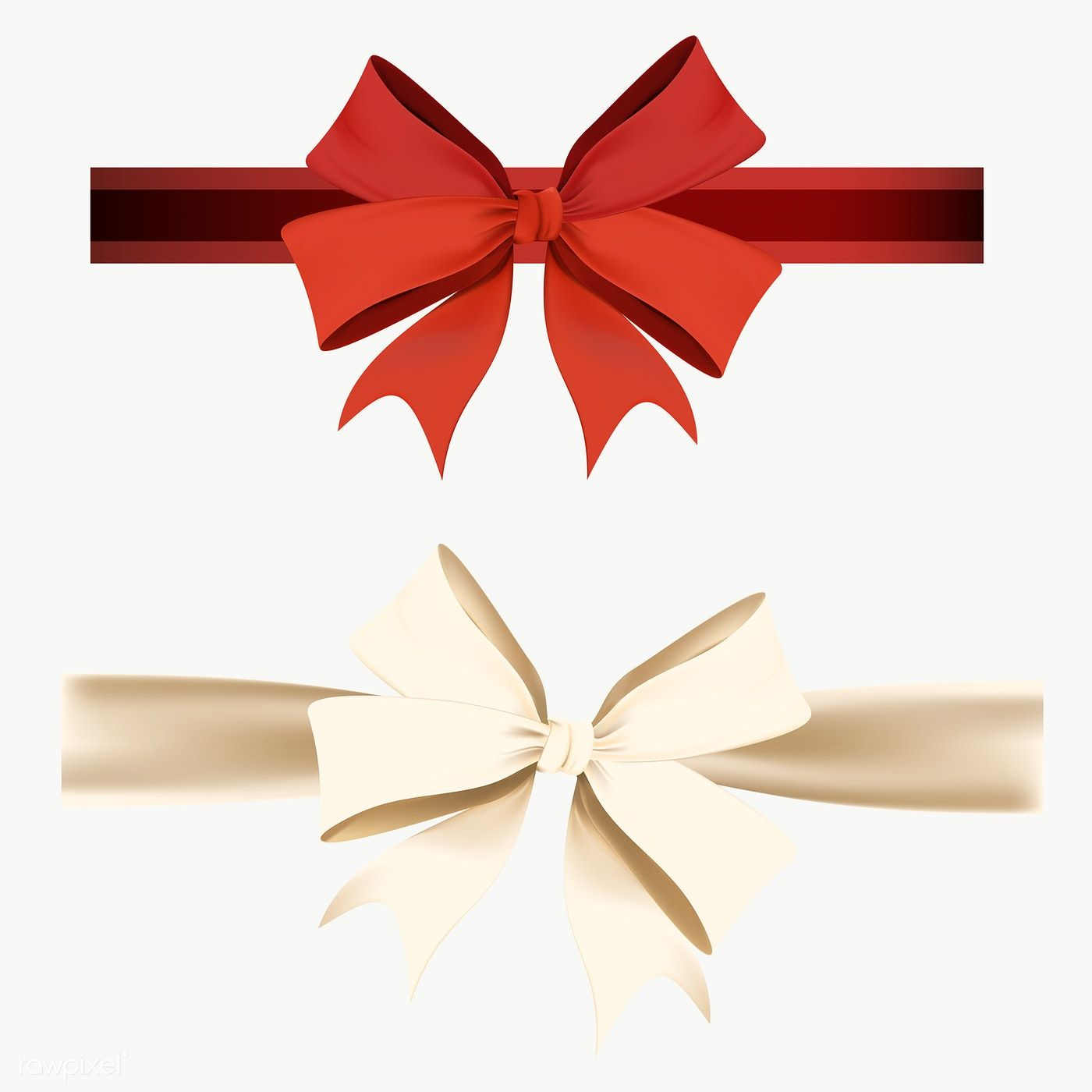 Ribbon Bow Element Set Transparent Png Premium Image By Rawpixel Com Kappy Kappy Ribbon Bows Gift Bows Christmas Ribbon