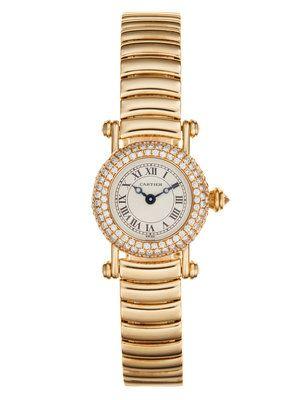 Cartier 18K Yellow Gold & Diamond Diablo Watch, 21mm
