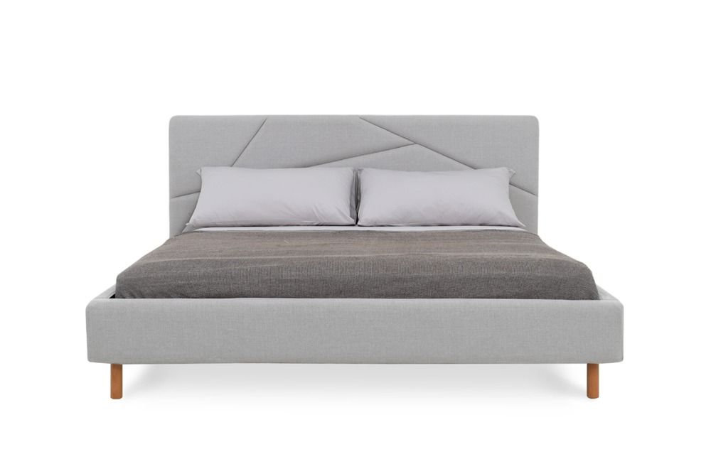 Best Aaron King Size Bed Light Grey Bed Frame Queen Size 400 x 300