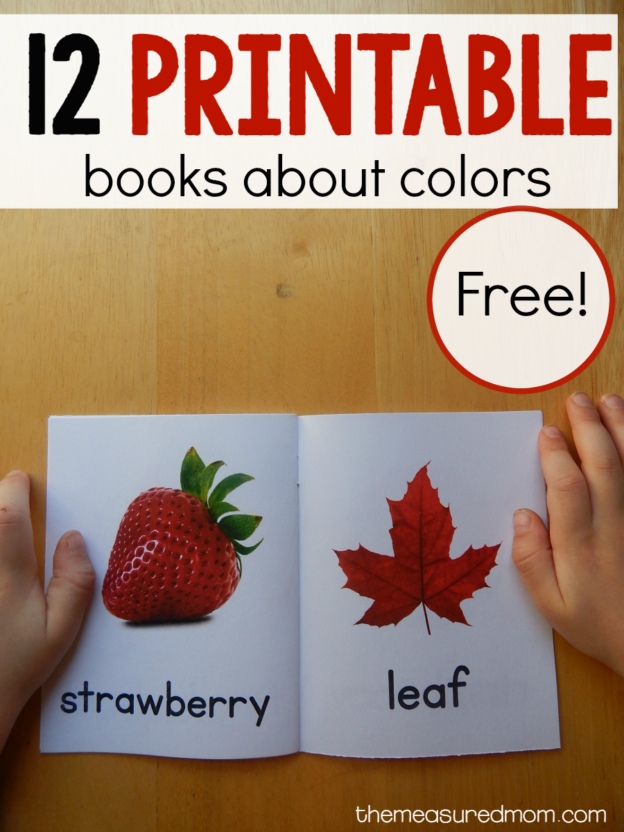 these free color books are wonderful for helping toddlers learn their colors