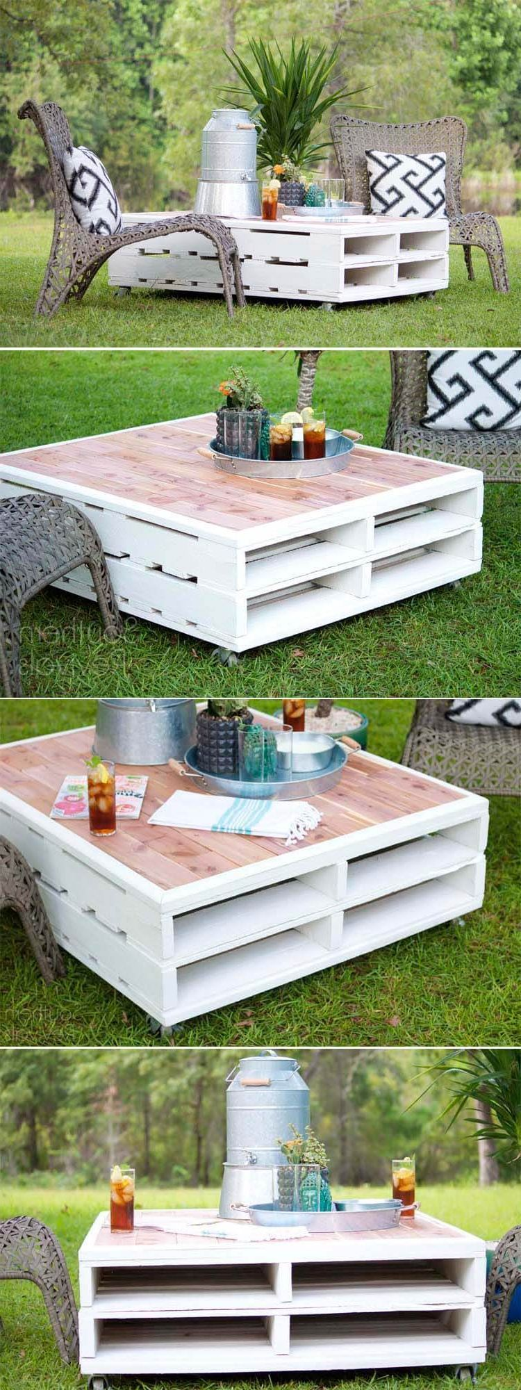 Diy Making Your Own Pallet Patio Furniture Decor Around The World In 2021 Rustic Coffee Tables Pallet Furniture Outdoor Pallet Outdoor