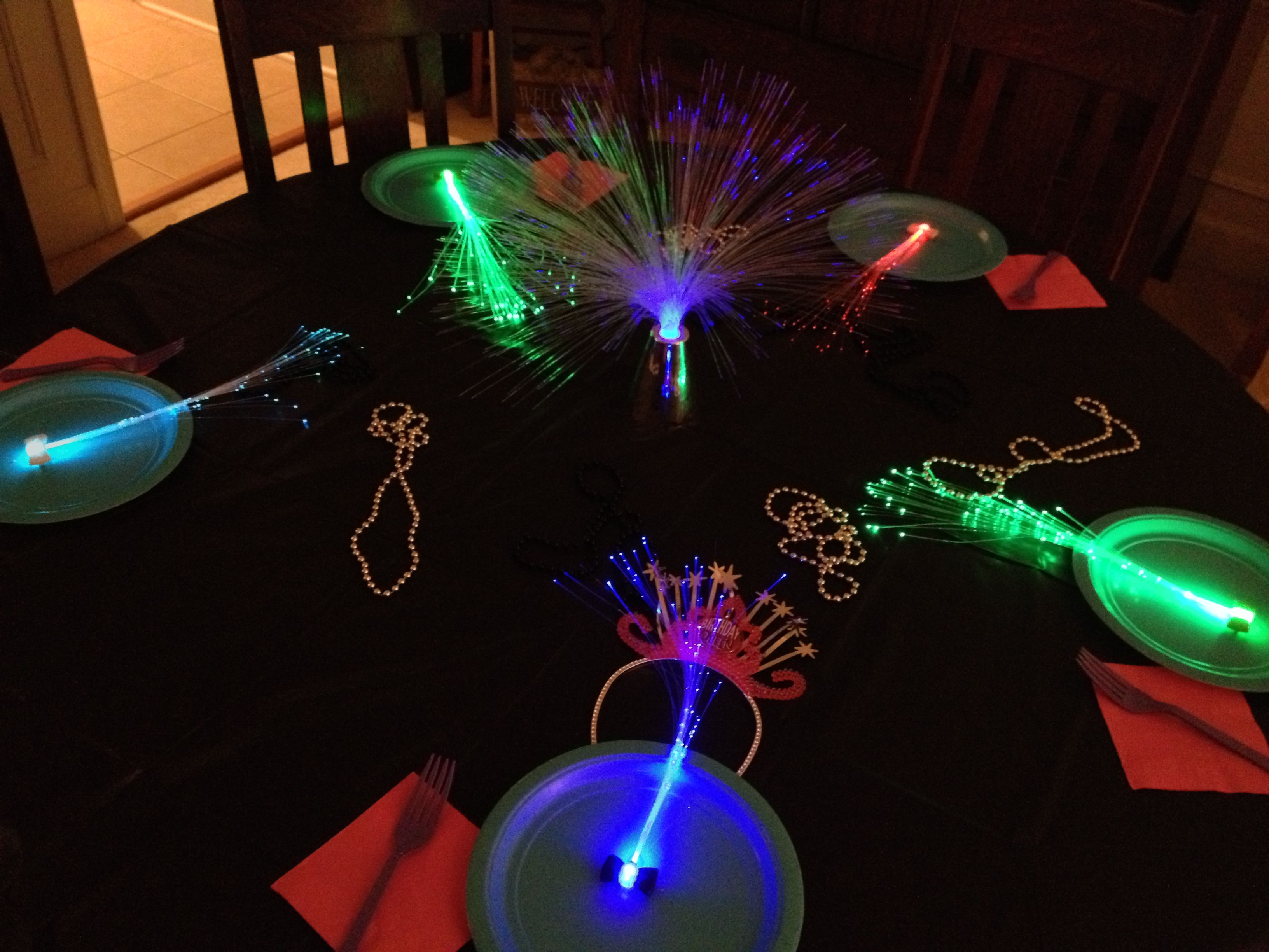 Glow Party Table Decoration Fiber
