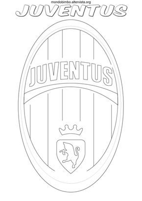 Disegno Logo Squadra Calcio Juventus Colorare Torte Di