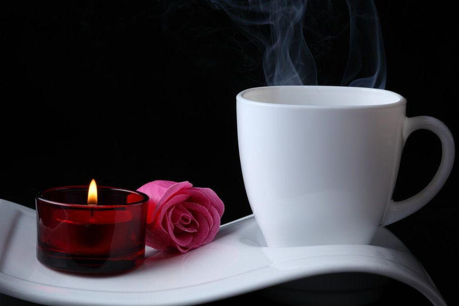 Flowers, rose, coffee, candle vektor