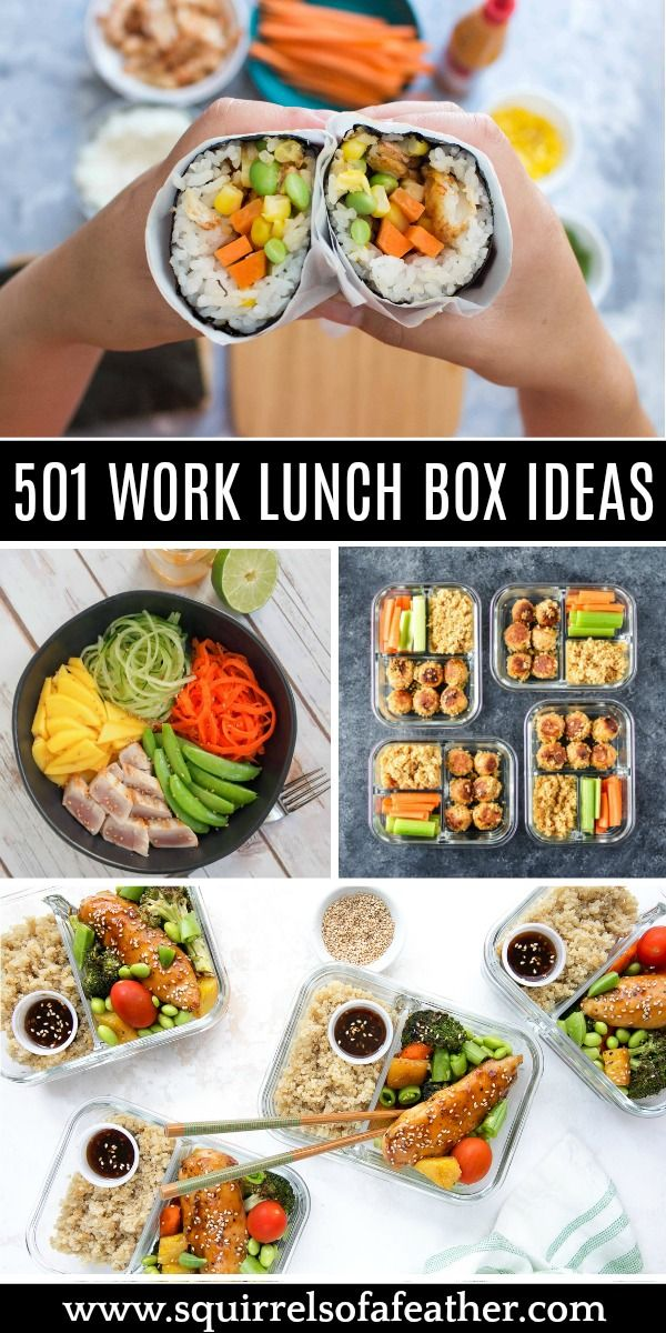 501 Healthy Lunch Ideas for Work That Are ANYTHING But Boring! #bentoboxlunch
