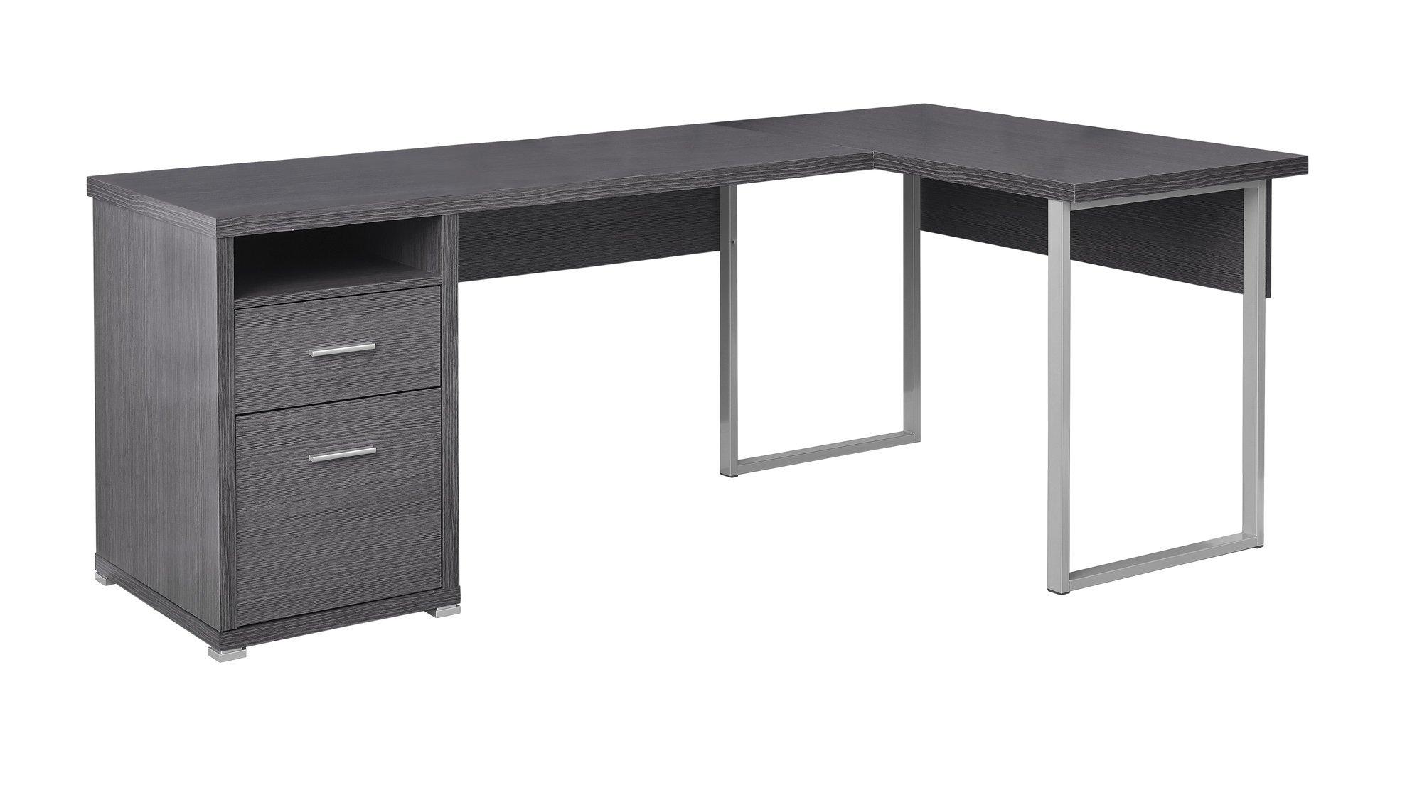 79 L Shaped Grey Corner Office Desk W Flexible Position In 2020