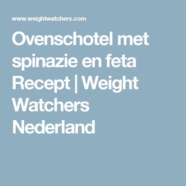 Ovenschotel met spinazie en feta Recept | Weight Watchers Nederland