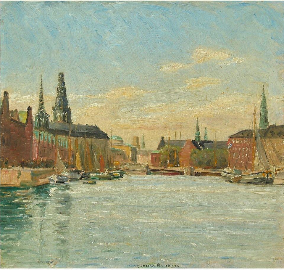 Johan Rohde Slotsholmen Malerier